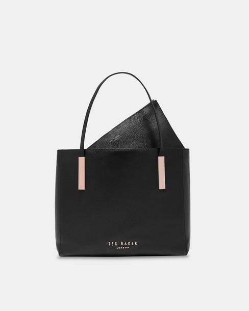 Ted Baker statement bag leather black