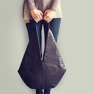bag black leather leather bag