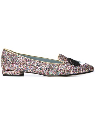 glitter women slippers leather shoes