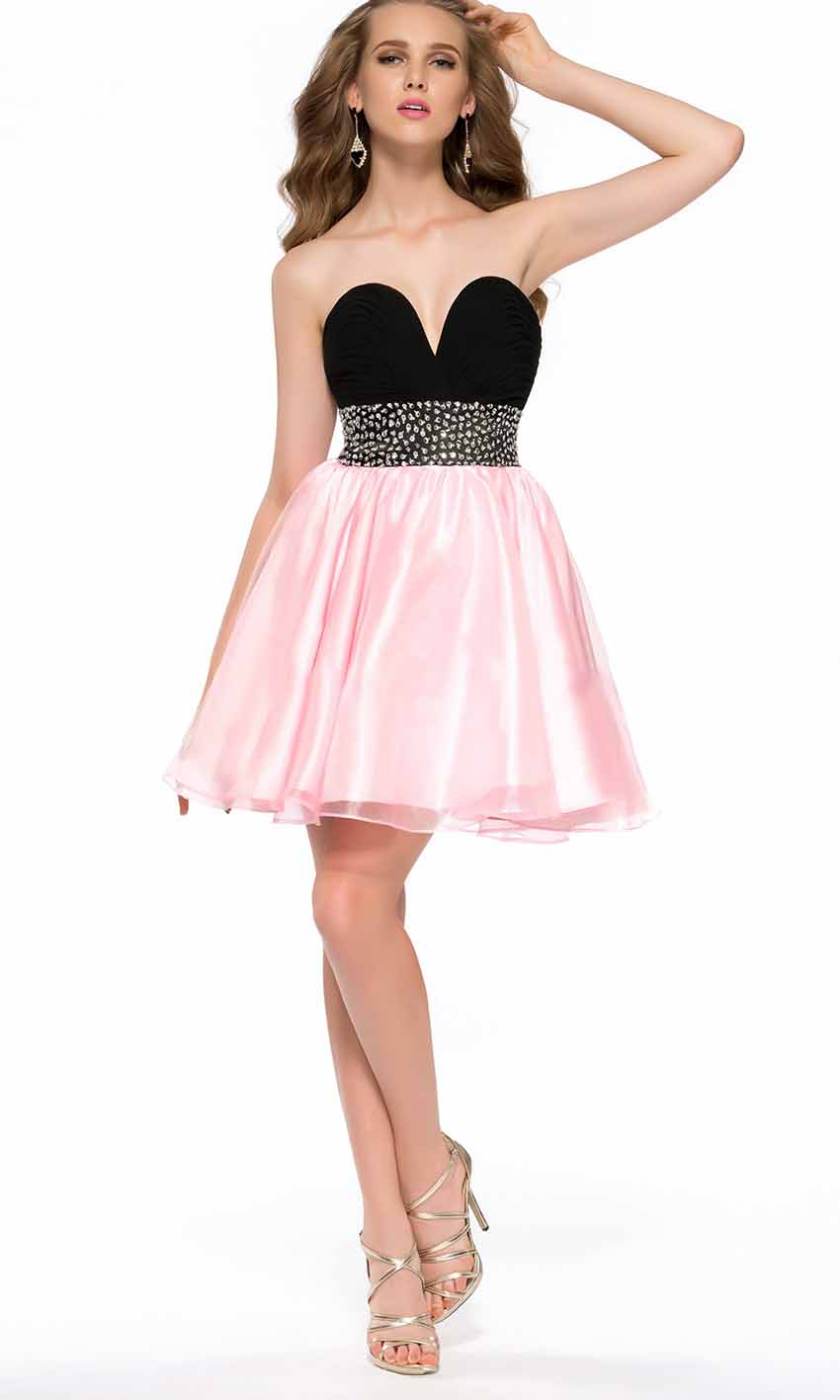 6f18951a6904 Black and Pink Sweetheart Empire Short Prom Dresses KSP391 [KSP391] -  £84.00 : Cheap Prom Dresses Uk, ...