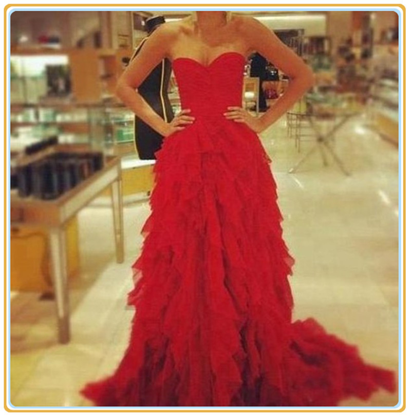 Aliexpress.com : buy free shipping sexy long prom evening dress custom ruffled red maxi dress long chiffon formal dress red gorgeous evening gown from reliable dress up mermaid princess suppliers on fashion streets