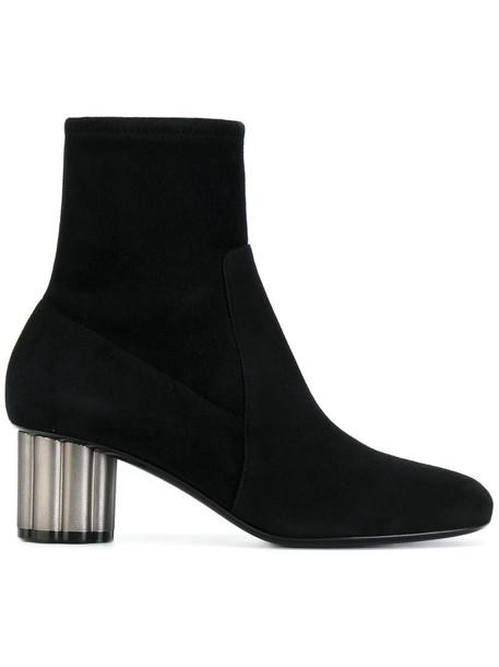 Salvatore Ferragamo women ankle boots leather suede black shoes