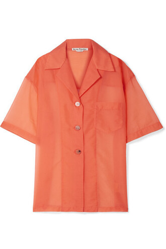 shirt oversized coral top