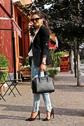 fashionhippieloves,blouse,jeans,jacket,bag,shoes,jewels,sunglasses,belt