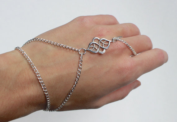 tribal silver hand bracelet hand jewelry slave bracelet