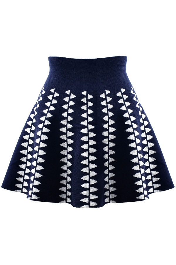 Pope Pattern Mini Skirt - OASAP.com