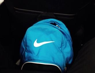 bag blue backpack nike nikebackpack nikebag bluenike checkmark bluebackpack nikebookbag bookbag nikeshoulderbag nike backpack nike bag
