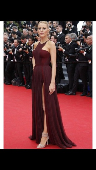 dress maroon/burgundy blake lively dress