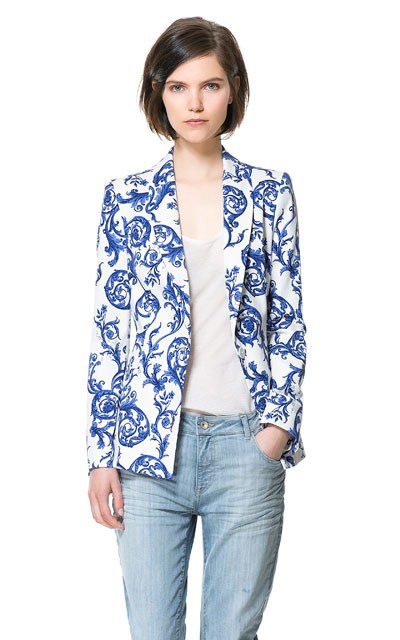 Aliexpress.com : Buy 2013 Newest Style Ladies Blue And White Porcelain Floral Printed Chinese Wind Long Sleeved Blazer,Women' OL Casual Suit xf12 from Reliable suit short suppliers on Ms she