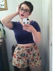 shorts,flowers,grunge,punk,cute,tumblr,short,vintage,hipster