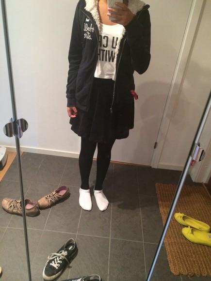 skirt t-shirt shoes top cardigan jacket converse