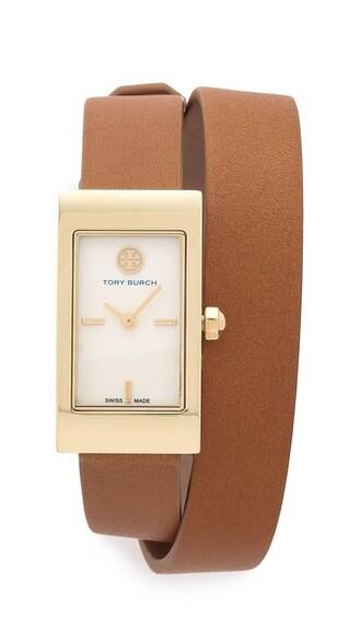 tan watch gold jewels