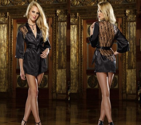 pajamas lace robe robe lingerie satin robe robes lace satin nightwear