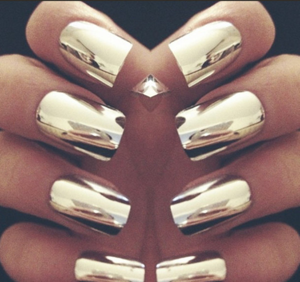 Metallic Gold Nail Polish: Metallic Silver Nail Foil Wraps