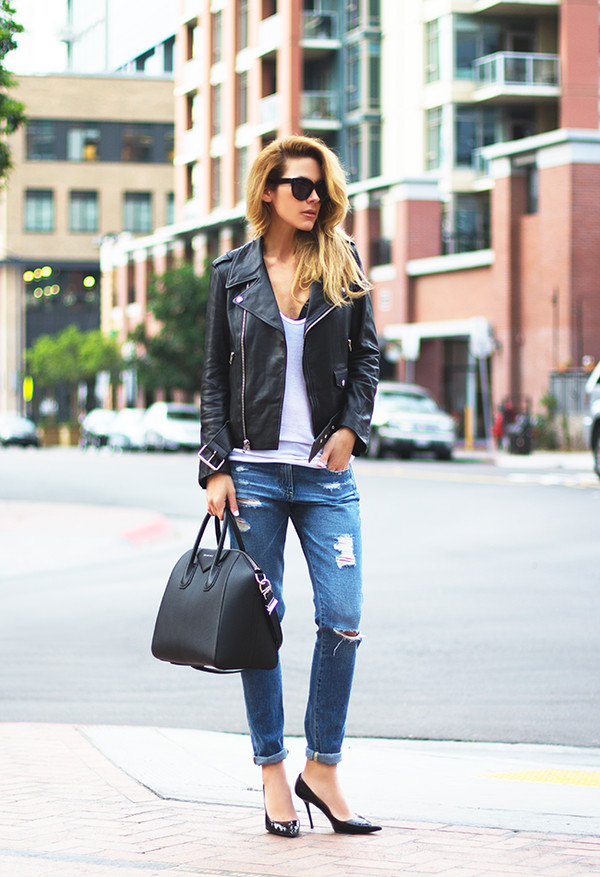 sunglasses tank top jacket bag shoes