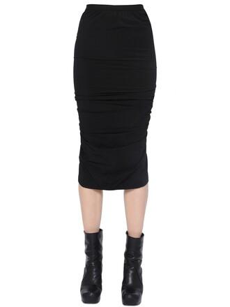 skirt pencil skirt draped black