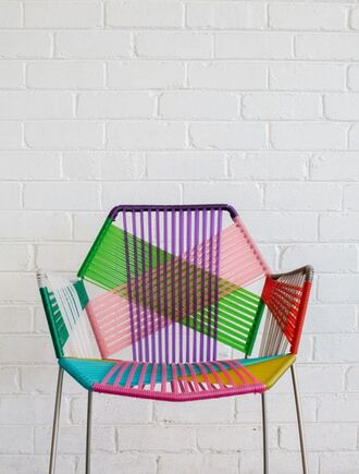 home accessory chair colorblock strappy furniture