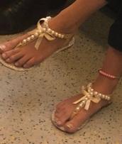 shoes,pearl,diamanté,large bow