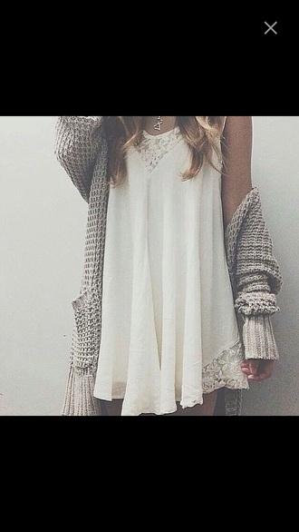 cardigan dress loose girly short creme plain oversized pockets short/mini elegent loose fit sweater