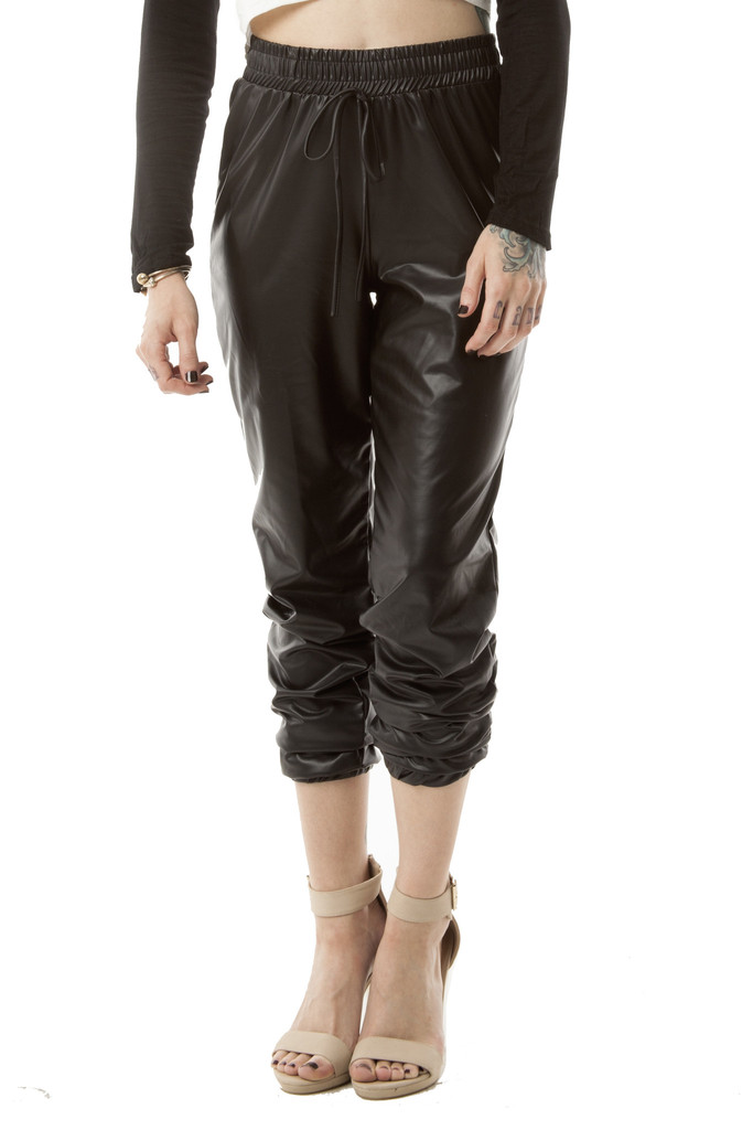 Raven Leather Joggers – Wunderlust