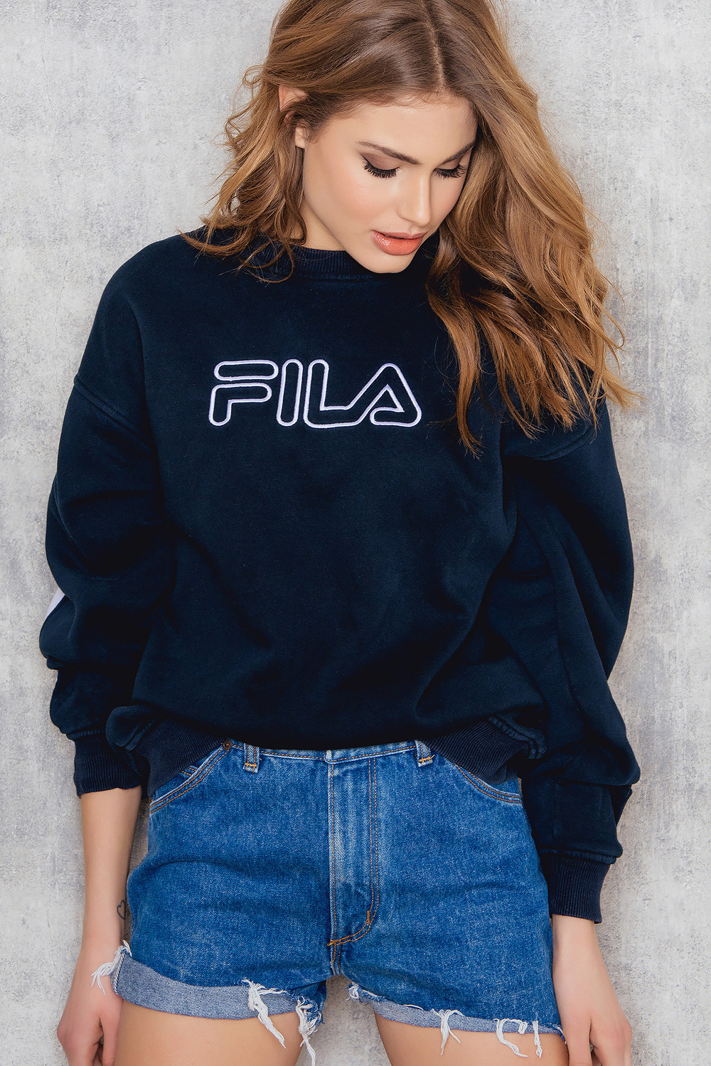 NA-KD Vintage Fila Vintage Sweatshirt