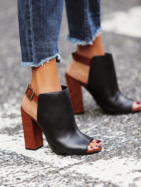 shoes, tumblr, boots, open-toe booties