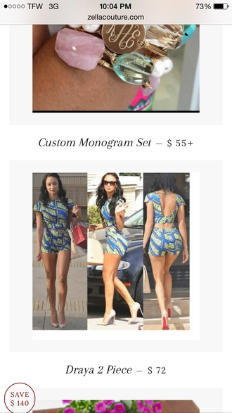jumpsuit two-piece crop tops shorts celebrity style draya michele