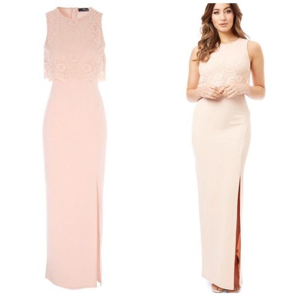 dress maxi pink lace