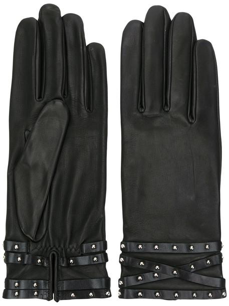 cuff studded black jewels