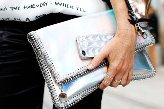 bag metallic clutch metallic clutch silver clutch