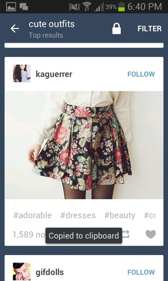 skirt black backround floral skirt