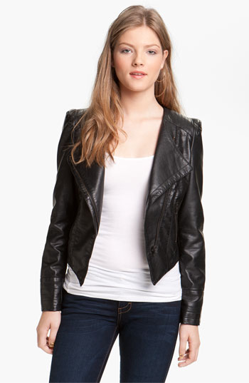 & Supply Faux Leather Moto Jacket (Juniors) (Online Only) | Nordstrom