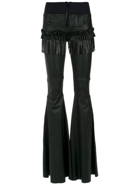 Andrea Bogosian women spandex leather black pants