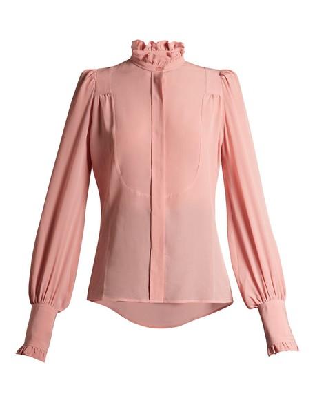 blouse high light pink light pink top
