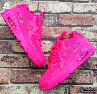 shoes pink dope sneakers air max nike swag neon nike air max 90