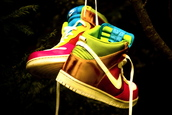 sneakers,nike,rainbow,metallic,shoes