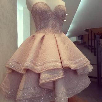 dress prom dress pink dress glitter dress short dress