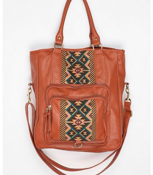 bag brown aztec
