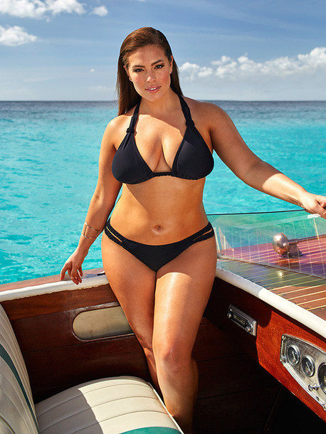 swimwear bikini bikini top bikini bottoms curvy plus size black bikini ashley graham model summer