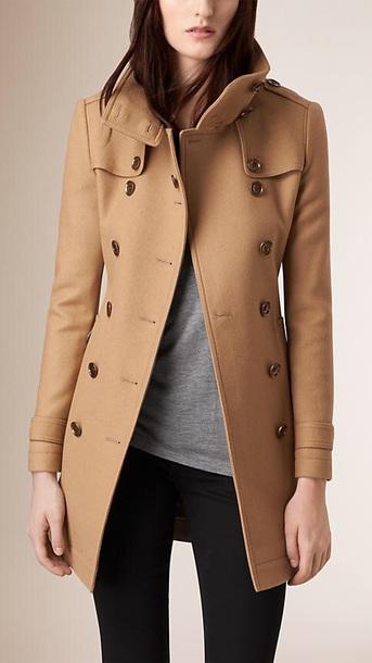 coat camel wool coat