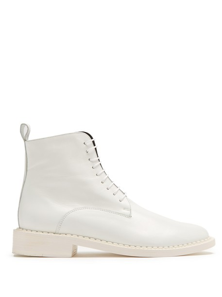 CLERGERIE leather ankle boots ankle boots leather white shoes