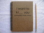 home accessory,notebook,quote on it,funny,love quotes,stationary