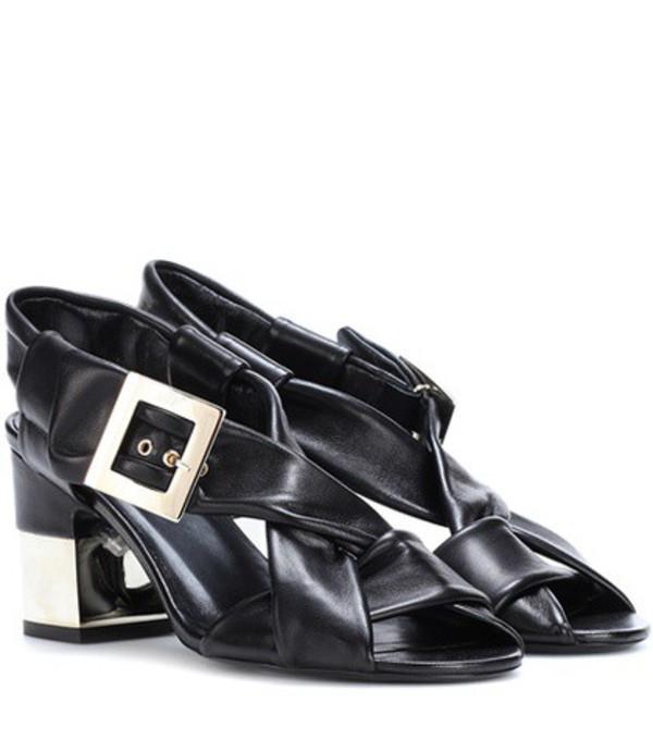 Roger Vivier Podium leather sandals in black