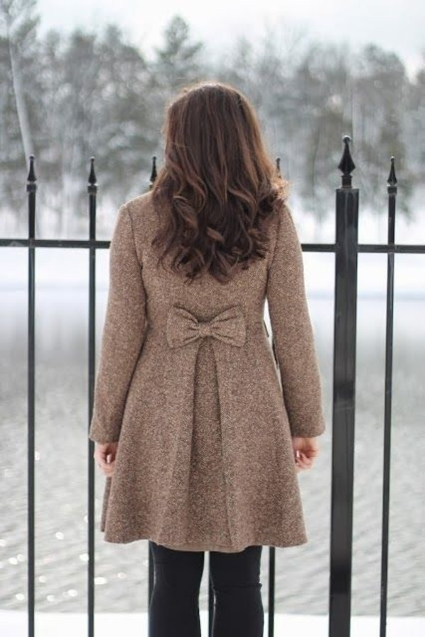 New Ladies Celeb Sexy Bow Back Faux Fur Hooded Coat Cape Poncho ...
