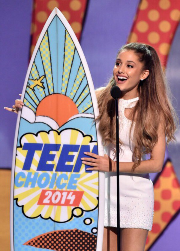 ariana grande white dress white rhinestones
