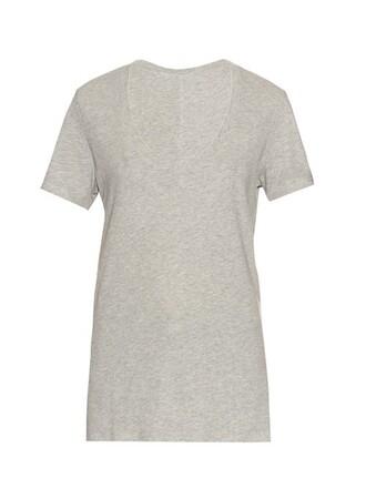 t-shirt shirt cotton t-shirt classic cotton grey top