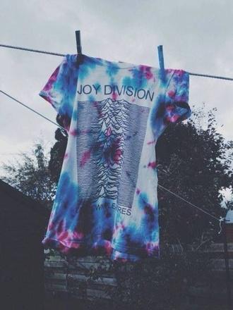 t-shirt joy division tie dye