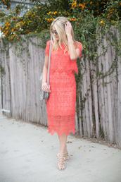 modern ensemble,blogger,sunglasses,grey bag,mini bag,shoulder bag,red dress,two-piece,lace dress,flats