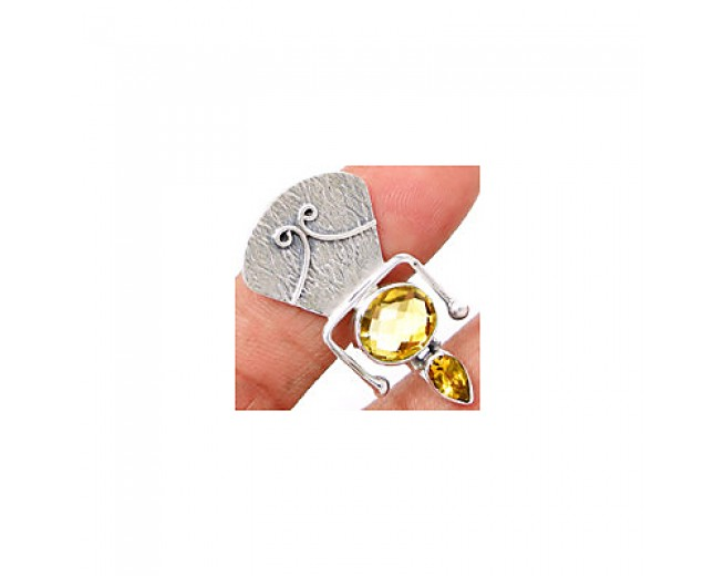Amazing 925 sterling silver Citrine Pendant
