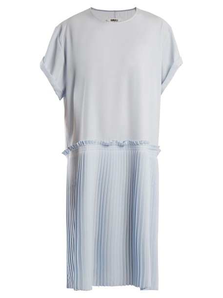 Mm6 Maison Margiela dress pleated light blue light blue